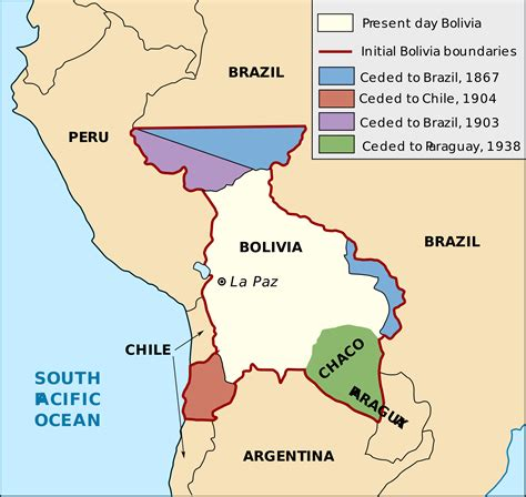 access to history maos a map of bolivia s historical territorial losses maps of south america