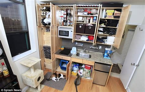 revealed the manhattan home shorter than a train carriage but there is room to swing two cats