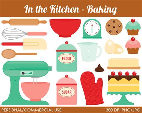 Vintage Kitchen Clipart by Kitchen Baking Clipart Digital Clip By Mareetruelove
