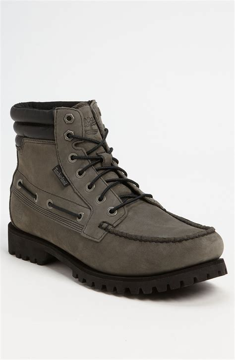 timberland oakwell moc toe boot in gray for grey
