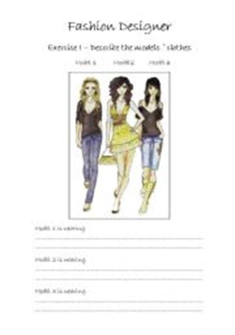 design clothes worksheet english worksheet fashion designer