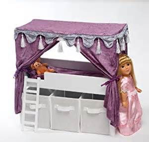 Canopy Beds For 18 Inch Dolls Doll Canopy Bed Storage Set Fits American 18 Quot Inch Dolls Furniture Toys