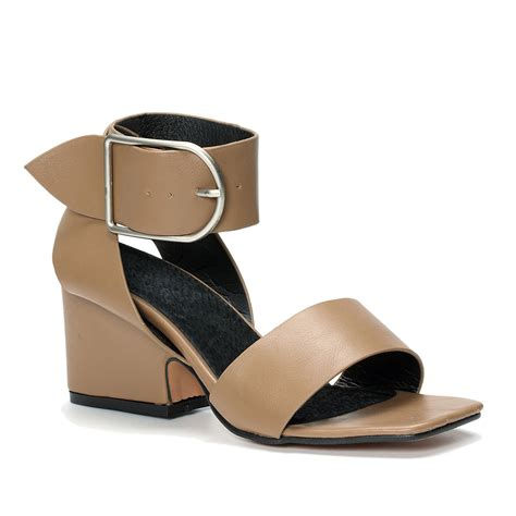 chunky heels sandals khaki chunky heels sandals with buckle design us 43 95