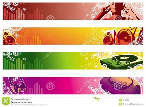 printable music banner music web banners stock vector illustration of musician