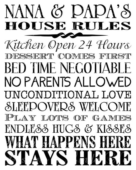 printable house rules poem best 25 poems about grandparents ideas on pinterest