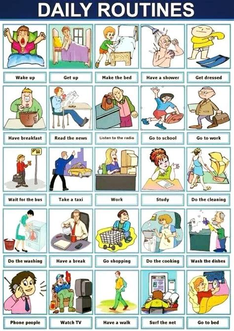 the vocabulary guide anglais 2091636894 daily routines english conversations english vocabulary routine english and