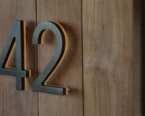 lighted house number sign led house numbers signage apartment number signs