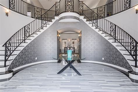 million defiance mansion   dual sweeping staircase