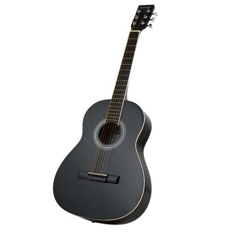 Decorative Home Furnishings by New Three Quarter Size Acoustic Guitar Black With Steel