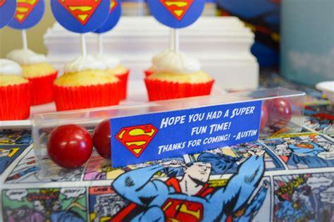 Superman Birthday Giveaways - super hero batman spiderman superman larry boy birthday party ideas photo 5 of 12