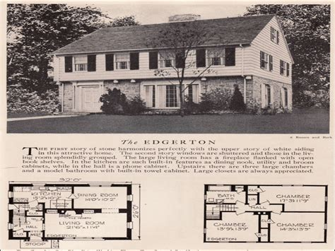 American Colonial House Plans by 1930s Colonial House Plans Georgian Colonial House Plans