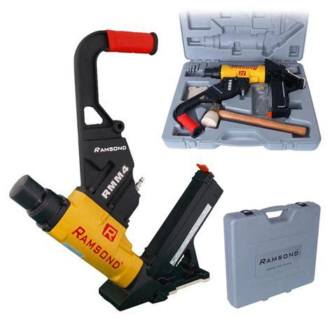 Best Flooring Nailer Ramsond 2 In 1 Air Hardwood Flooring Cleat Nailer And Stapler Gun Rmm4 The Home Depot