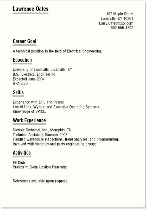 how to write resume for high school students free resume templates