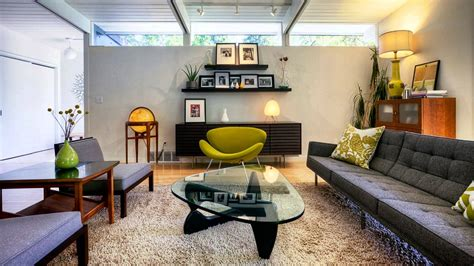 mid century living room contemporary living ideas mid century modern style youtube