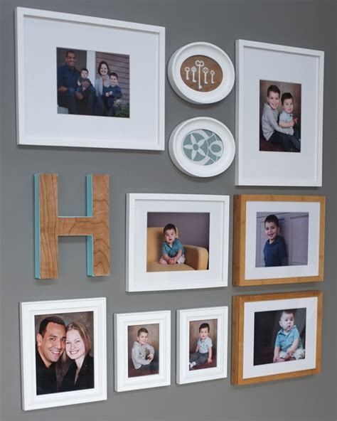 family photo gallery wall diy framed for the gallery wall teal and lime by