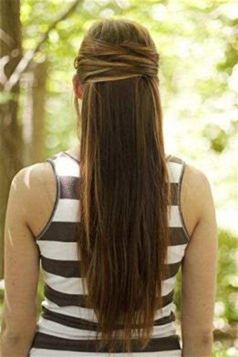 hairstyles for straight hair tied up peinado cruzado para cabello largo belleza y peinados