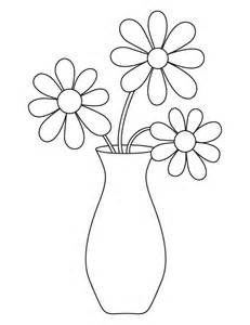 coloring pages of vase with flowers flower vase coloring page free flower vase