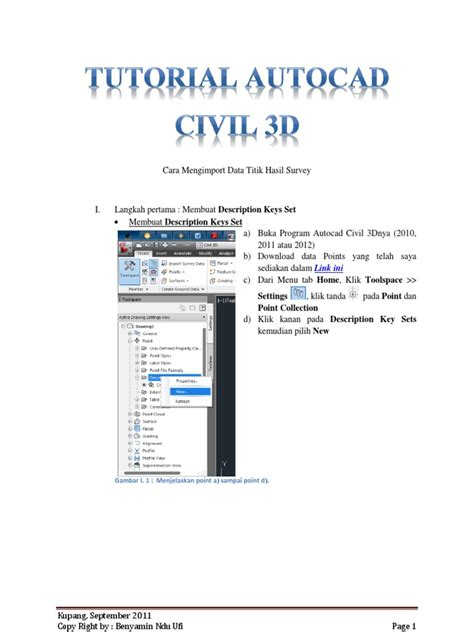 tutorial autocad civil 2010 1 tutorial autocad civil 3d point data