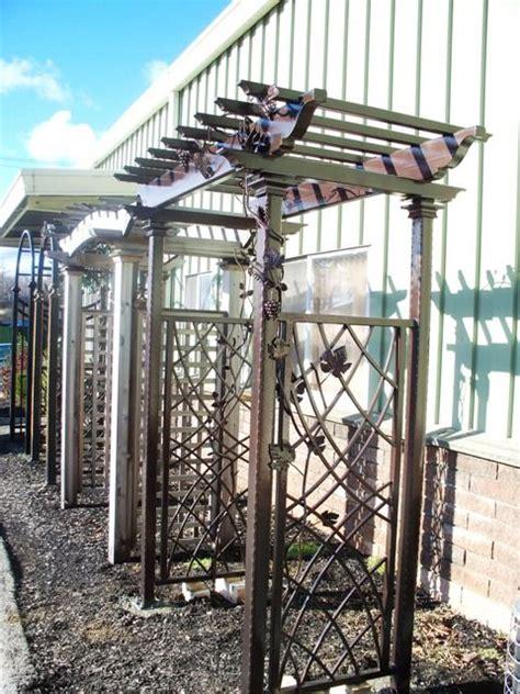 custom wrought iron pergola arbors and pergolas pinterest