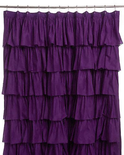 plum colored shower curtains india rose quot plum ruffle quot shower curtain purple my