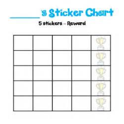 Template For Reward Chart by Printable Sticker Charts And Reward Charts For Toddlers