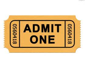 Admit One Ticket Template by Free Printable Admit One Ticket Template Clipart Best