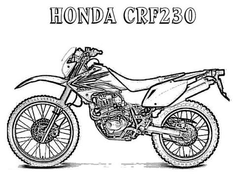card dirt bike coloring templates motorcycle honda crf230 coloring pages coloring