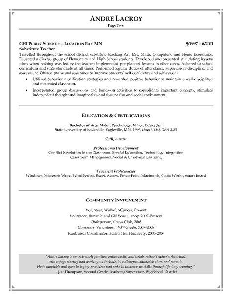 teachers aide resume assistant resume sample daycare teacher