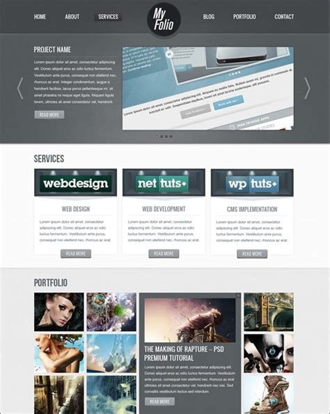 web layout for photoshop create website layout in photoshop 50 step by step tutorials