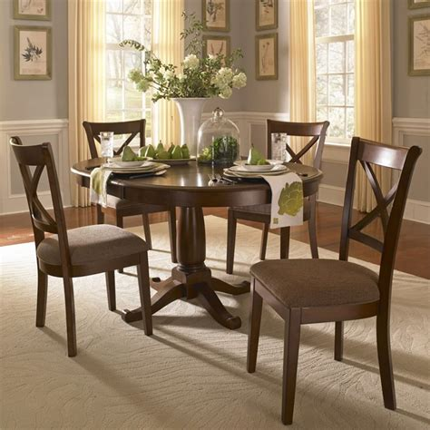 set pieces inside the homes of parenthood l a at a america desoto 5 piece round dining set des612475