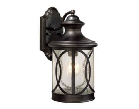 lights menards sterling 1 light 14 quot forged bronze outdoor wall light at