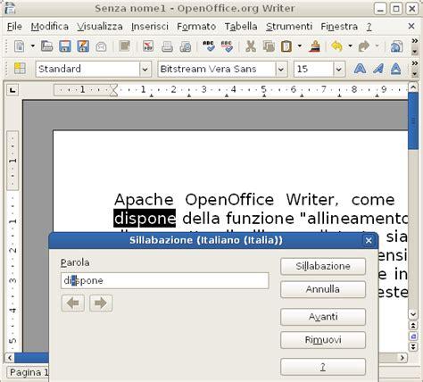 testo how to la sillabazione testo con openoffice tutorial