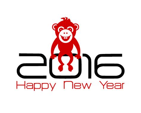 new year 2016 monkey logo 2016 year of the monkey vector material 05 vector