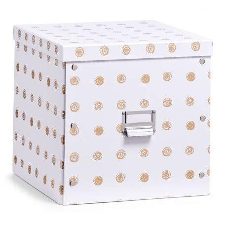 Boite Decorative De Rangement by Boite Rangement Cubique Decorative Blanche Doree