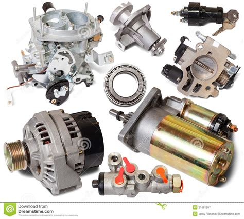 Sparepart R set of auto spare parts stock image image of different