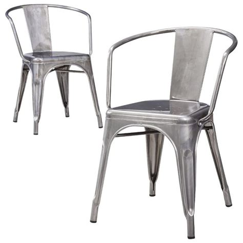 How To Make A Metal Chair by Carlisle Dining Chair Set Of 2 Silver