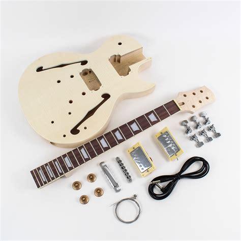 diy guitar kit les paul semi hollow diy guitar kit diy guitars