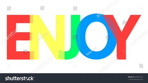 design a banner in word enjoy word design banner background with colorful text