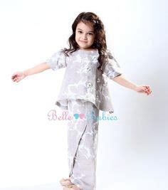 Kidz Dress Flower Brokat Navy baju kurung moden peplum baju raya for ages 1 yrs