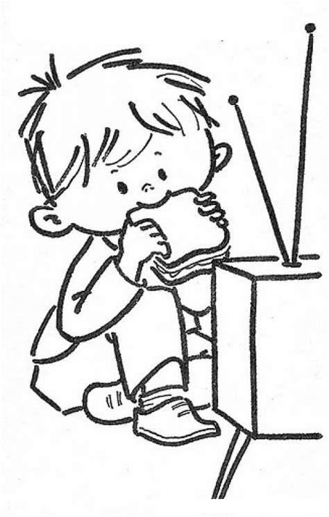 imagenes de niños viendo television para colorear colorear patojo viendo tele colorear dibujos de cholo