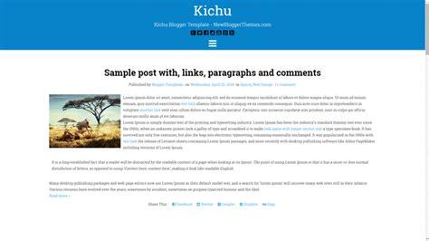 blogger themes with menu kichu blogger template newbloggerthemes com
