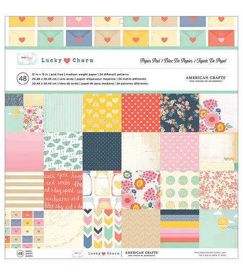 Craft Paper Pads - american crafts paper pad 12 quot x12 quot 48 pkg dear lizzy