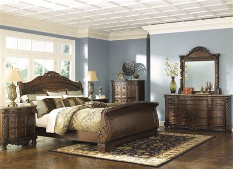 north shore sleigh bed north shore sleigh bedroom set from ashley b553