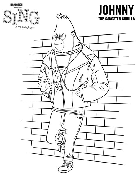printable coloring pages for cing sing movie coloring pages coloring home