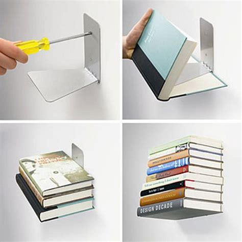 Shelf Book by Floating Bookshelf Ippinka