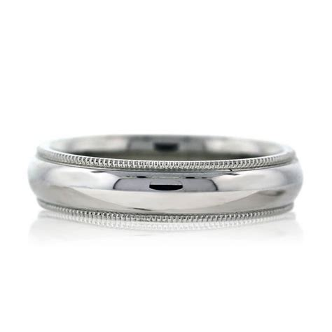 Wedding Band Milgrain by 14k White Gold Milgrain Mens Wedding Band Ring Boca Raton