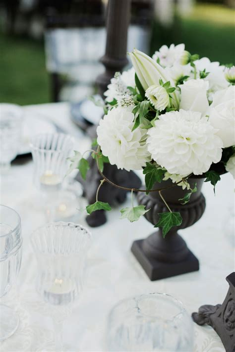 black and white table centerpieces black and white wedding centerpieces elizabeth