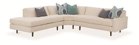 Rowe Brady Contemporary 3 Piece Sectional Sofa With Track Rowe Sectional Sofa
