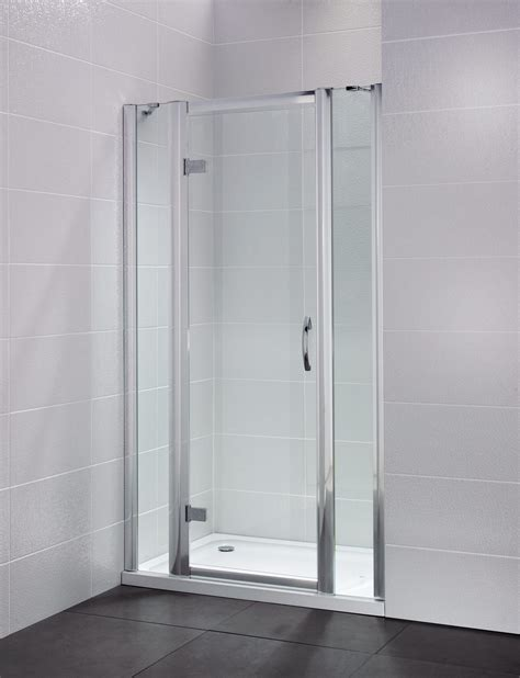 Hinged Frameless Shower Doors April Identiti2 900mm Semi Frameless Hinged Shower Door