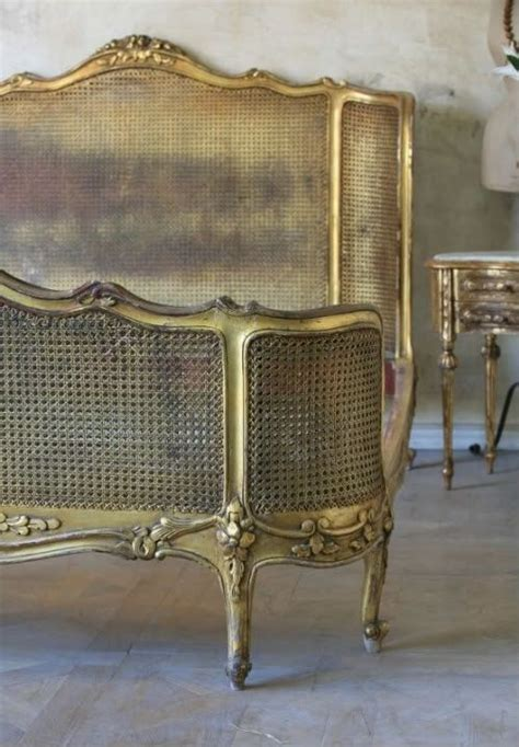 french cane bed beds canes and gold on pinterest